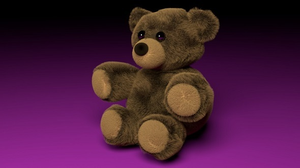 3DOcean Fluffy Teddy Bear 7377002