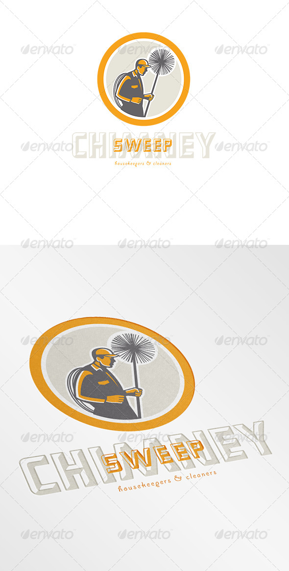 GraphicRiver Chimney Sweep Cleaners Logo 7377003