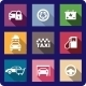 Collection of Flat Transport Icons - GraphicRiver Item for Sale