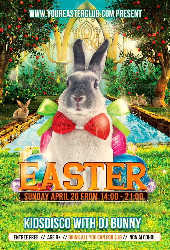 GraphicRiver Kids Easter Party Flyer 7377099