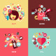 Flat Design Concept Icons for Beauty and Shopping - GraphicRiver Item for Sale