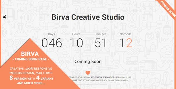 ThemeForest Birva Creative Coming Soon Theme 7377336