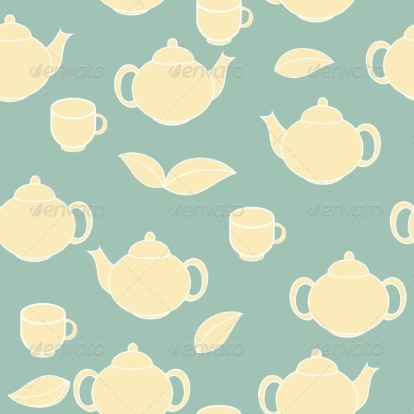 GraphicRiver Tea Seamless Pattern Background 7377505