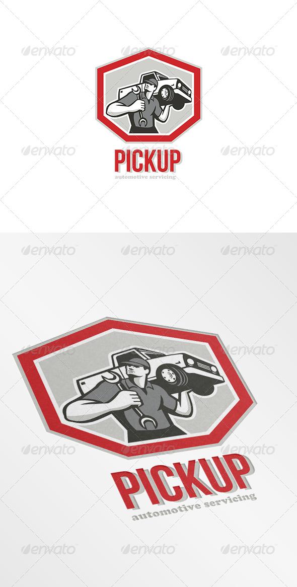 GraphicRiver Pickup Automotive Servicing Logo 7377507
