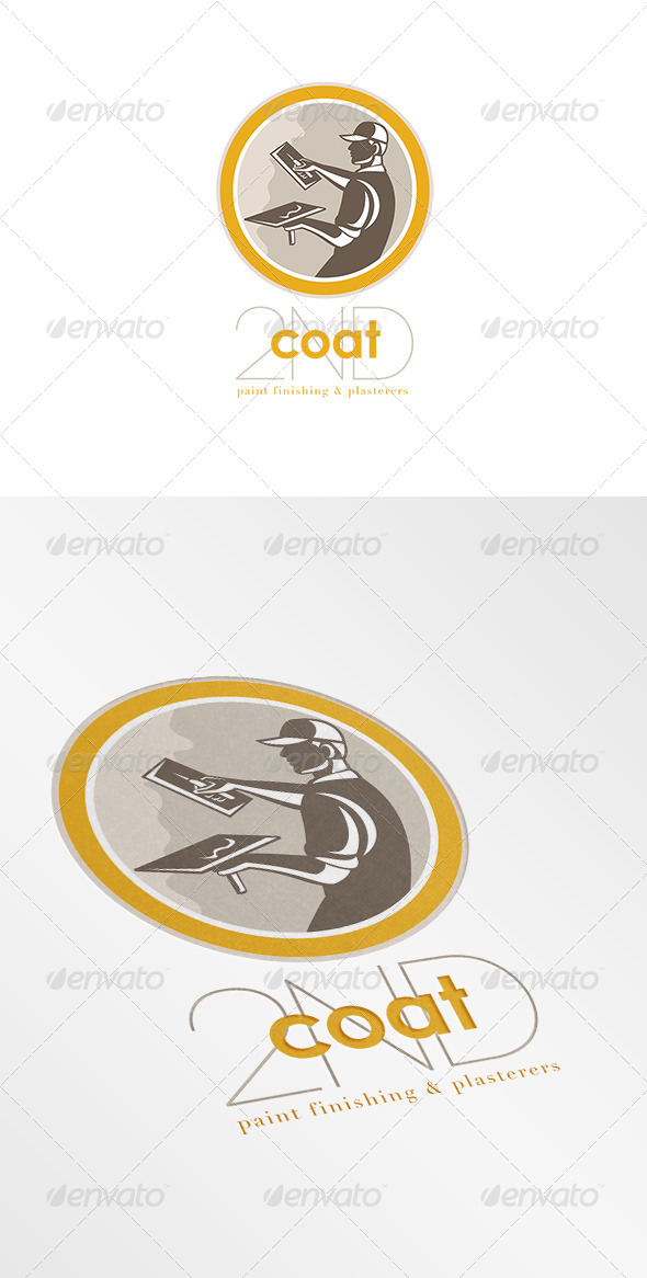 GraphicRiver Second Coat Paint Finishers and Plasterers Logo 7377511