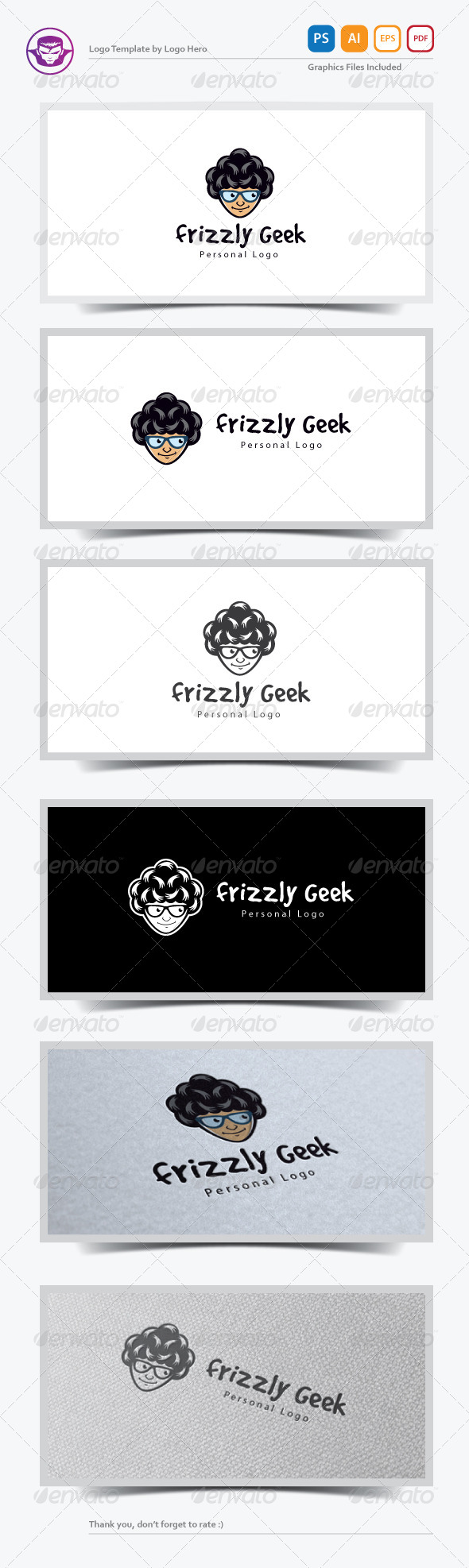 GraphicRiver Frizzly Geek Logo Template 7377552