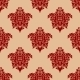 Ornate Maroon Damask Style Seamless Pattern - GraphicRiver Item for Sale