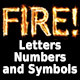 Fire Letters, Numbers, and Symbols - GraphicRiver Item for Sale