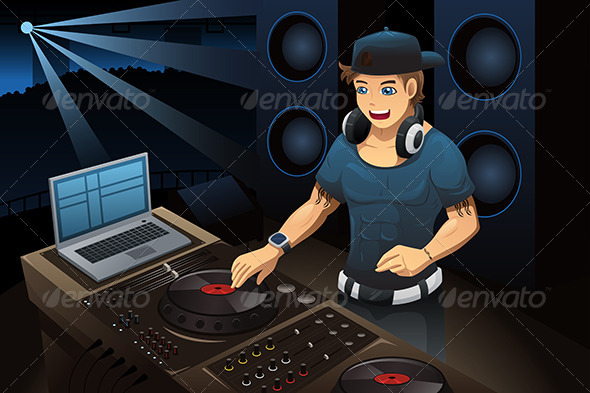 GraphicRiver DJ Performing in a Night Club 7379124