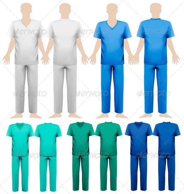 GraphicRiver Set of Medical Overalls 7379137