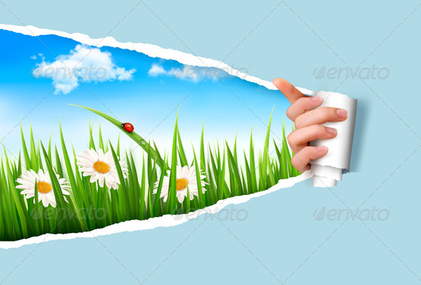 GraphicRiver Spring Background with Flowers 7379267