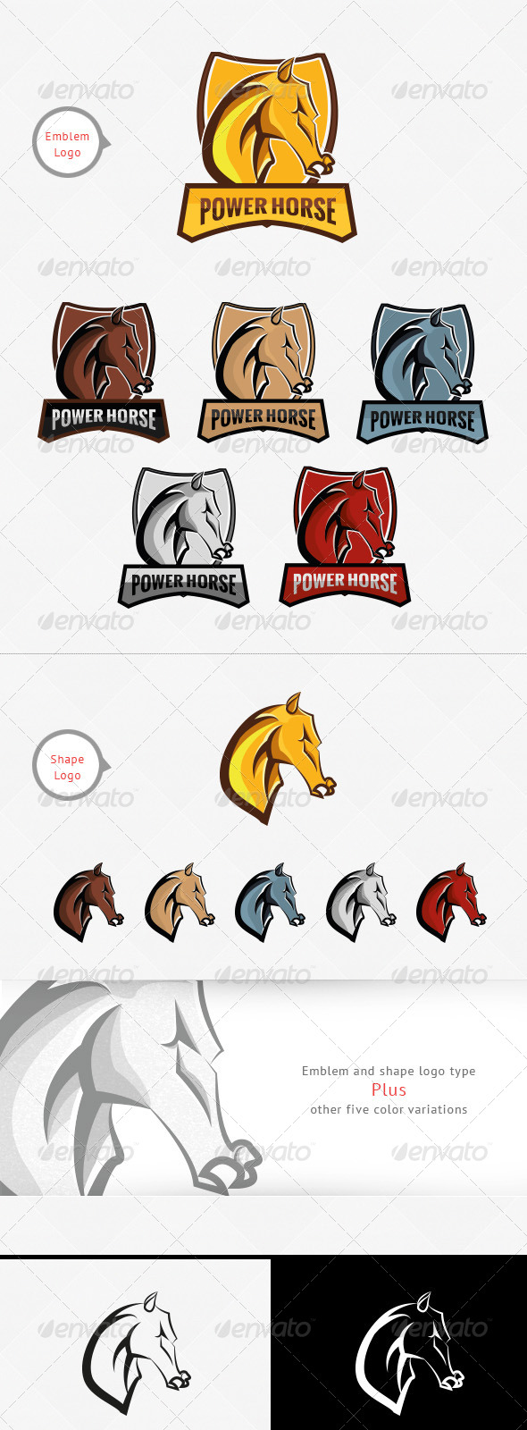 GraphicRiver Power Horse Logo Template 7354787