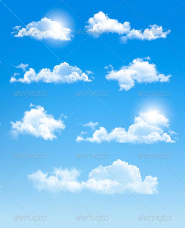GraphicRiver Set of Transparent Different Clouds 7379537