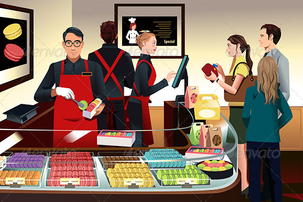 GraphicRiver Customers Buying Macaroons 7379697