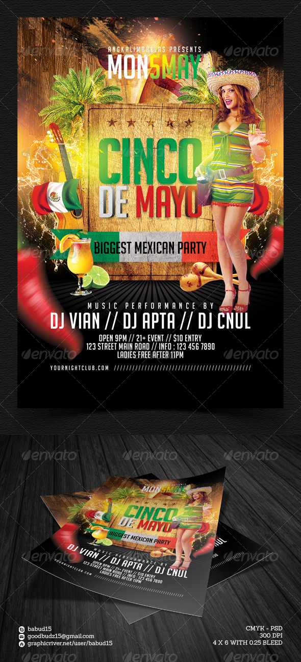 GraphicRiver Cinco de Mayo Flyer Template 7381284