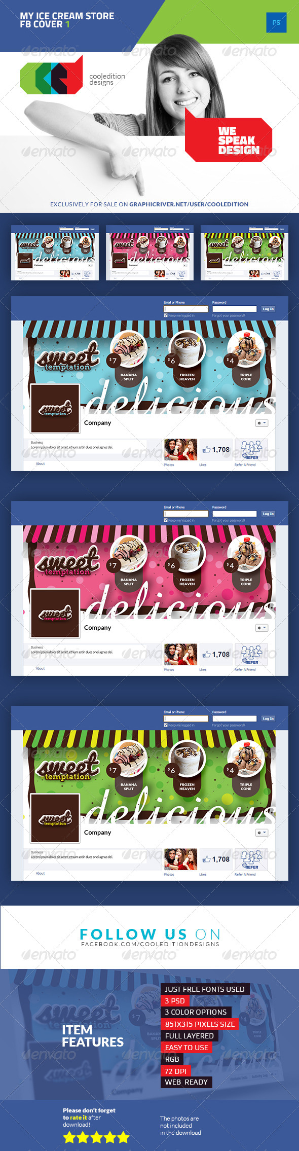 GraphicRiver My Ice Cream Store Facebook Cover 1 7381759