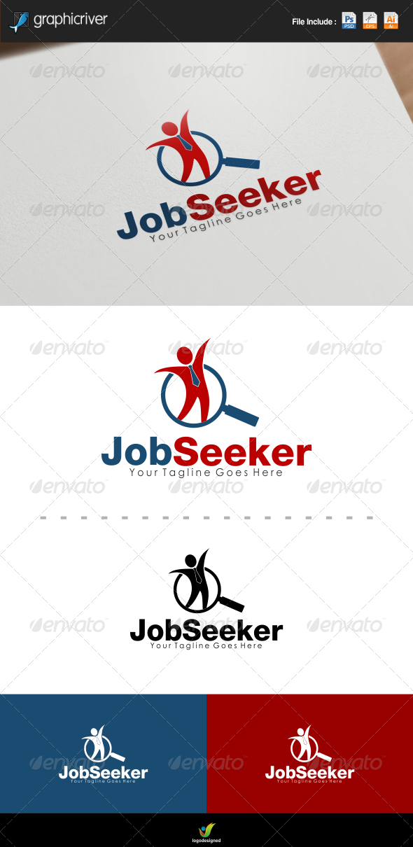 GraphicRiver Job Seeker Logo 7381785