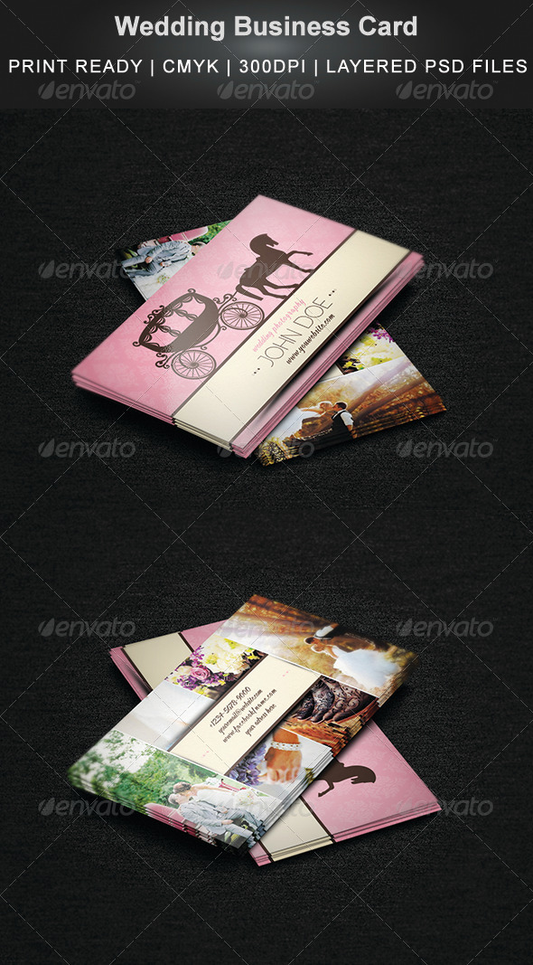 GraphicRiver Wedding Business Card 7382093