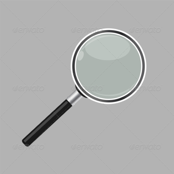 GraphicRiver Magnifying Glass Search Icon Vector Illustration 7382105