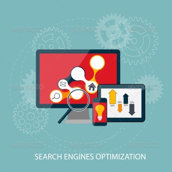 GraphicRiver Search Engines Optimization Concept 7382106