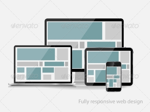 GraphicRiver Fully Responsive Web Design Concept Vector Illustr 7382107