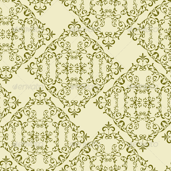 GraphicRiver Vector Vintage Seamless Floral Pattern 7382405