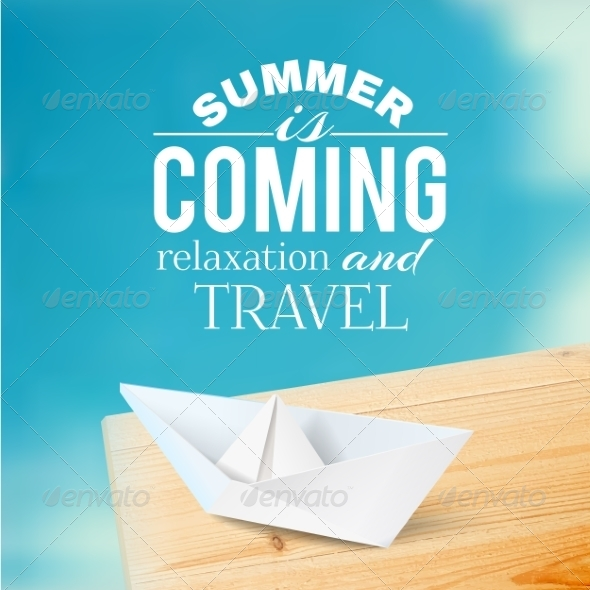 GraphicRiver Summer Background with Text 7382867
