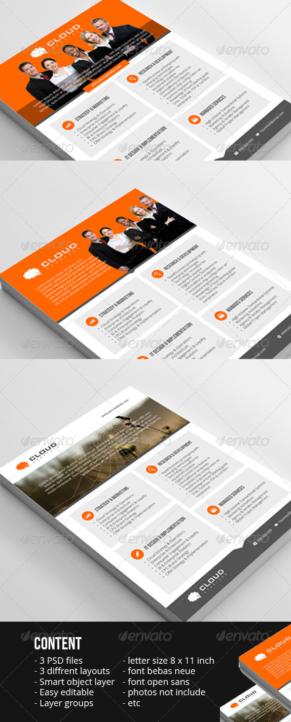 GraphicRiver Corporated Flyer For internet services 7368959
