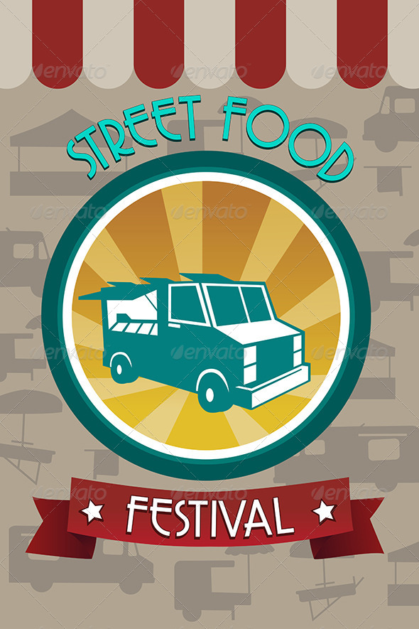 GraphicRiver Street Food Festival Pamphlet 7383268