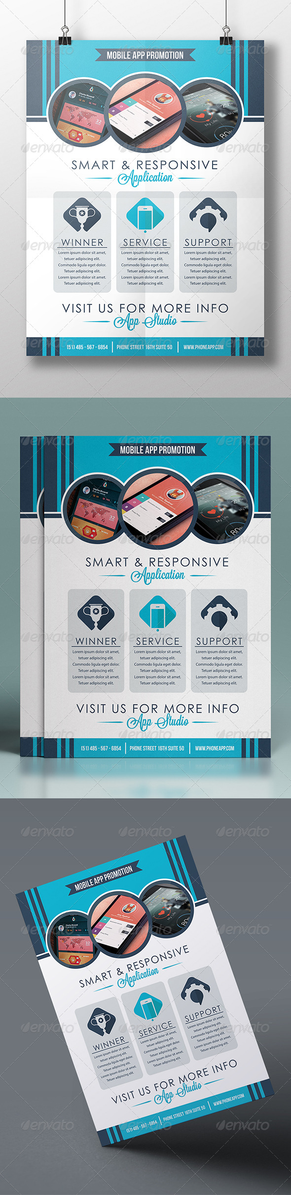 GraphicRiver Flat Design Flyer 7383307