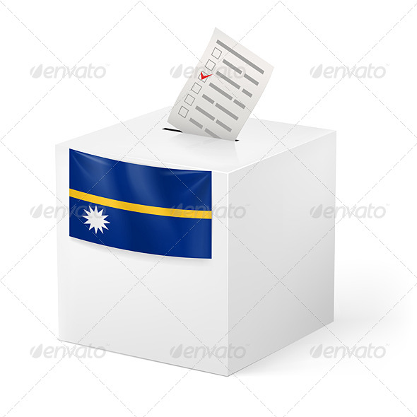 GraphicRiver Ballot Box with Voting Paper Nauru 7383328