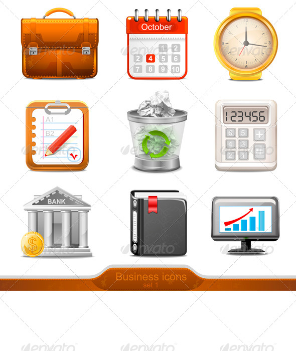 GraphicRiver Businesss Icons Set1 7383331