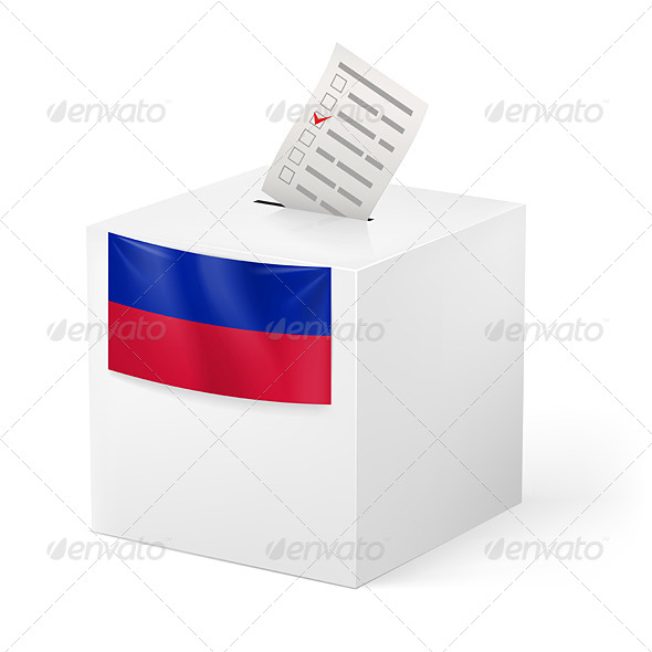 GraphicRiver Ballot Box with Voting Paper Haiti 7383428