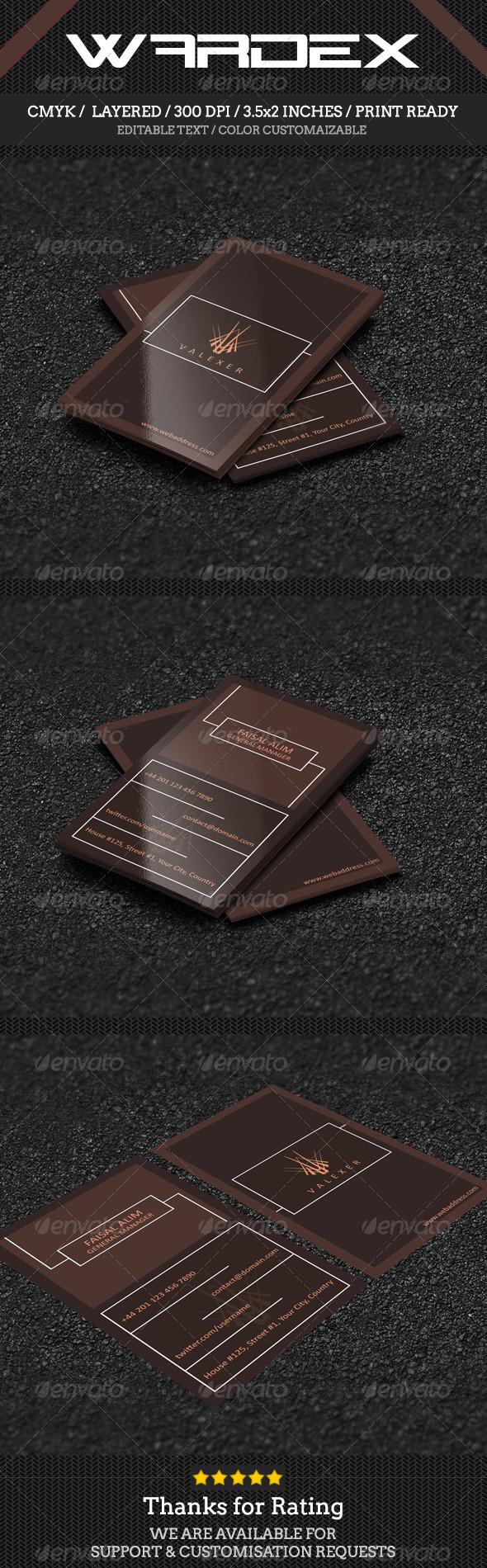 GraphicRiver Minimal Business Card Design 7383461