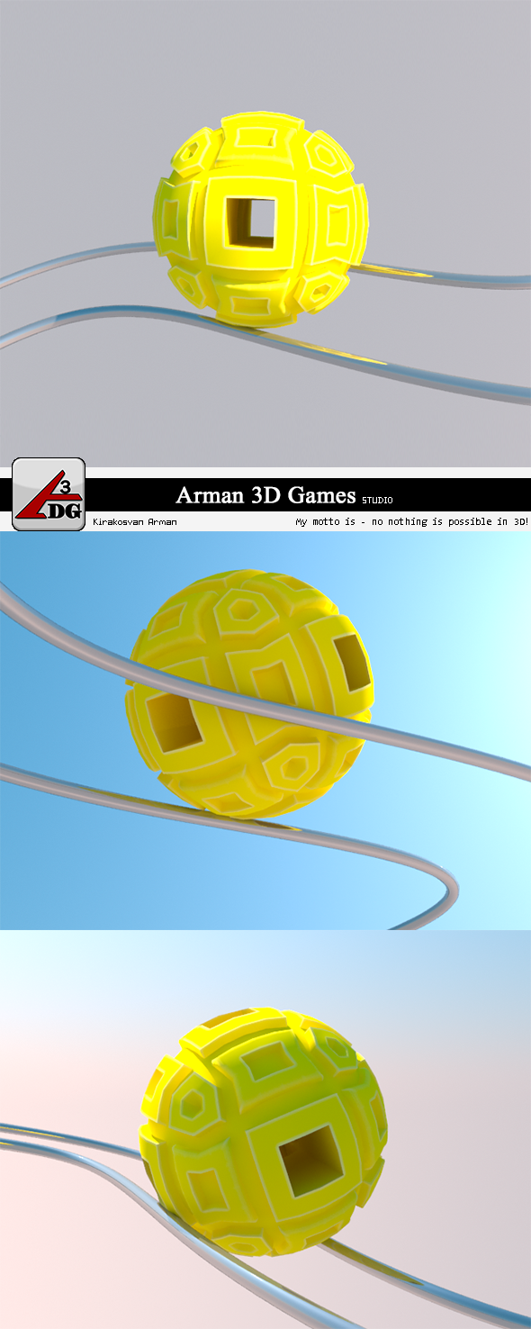 3DOcean Roll Ball yellow 7383506