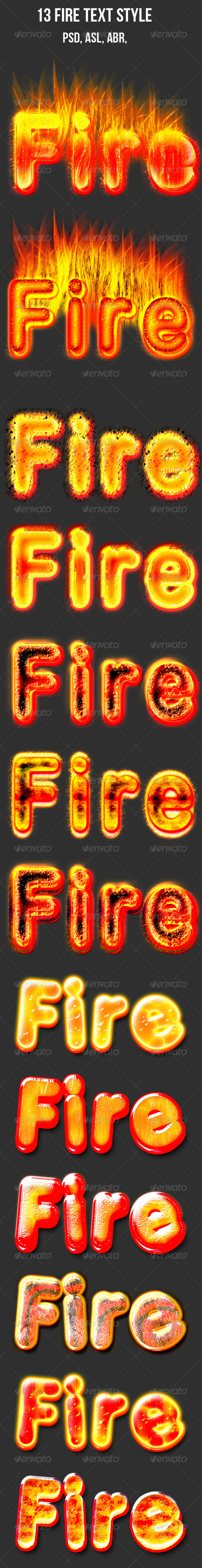GraphicRiver 13 Fire Layer Styles 7383523