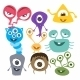 Fun Spooky Monsters - GraphicRiver Item for Sale