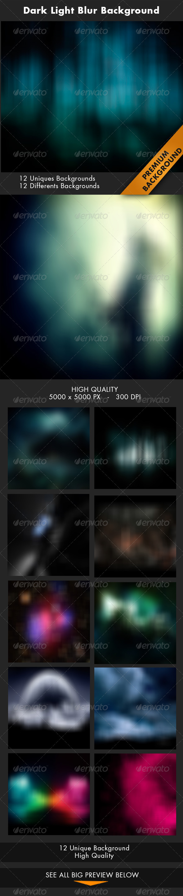 GraphicRiver 12 Dark Light Blur Background 7365689
