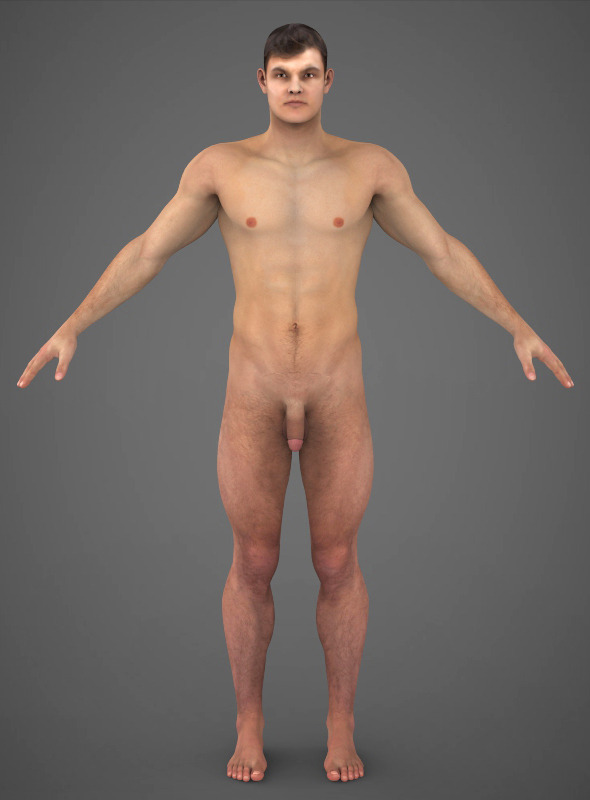 3D Model Realistic Young Muscular Man-7879
