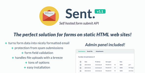 CodeCanyon Self hosted form submit API 7356482