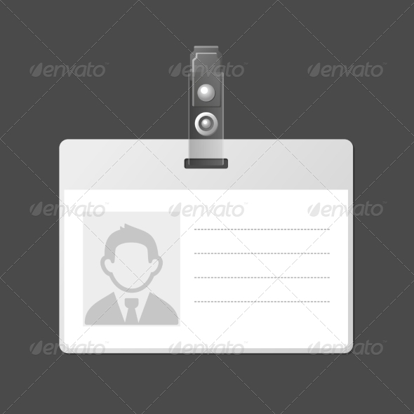 GraphicRiver Blank Identification Card Badge ID Template 7383655