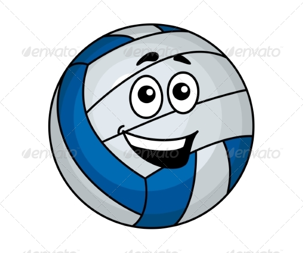 GraphicRiver Cartoon Volleyball Ball 7383679