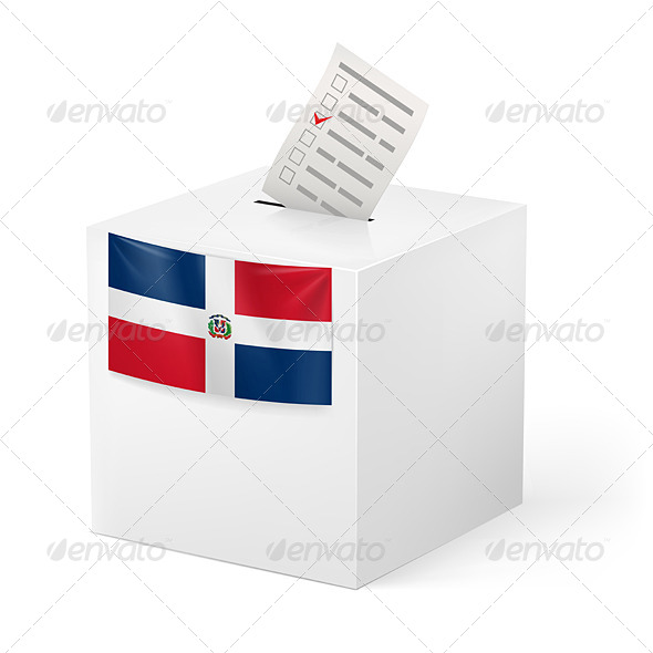GraphicRiver Ballot Box with Voting Paper Dominican Republic 7383715