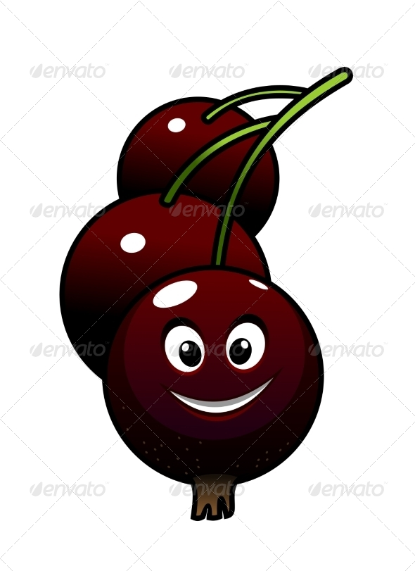GraphicRiver Cartoon Tasty Currant Berries 7383732