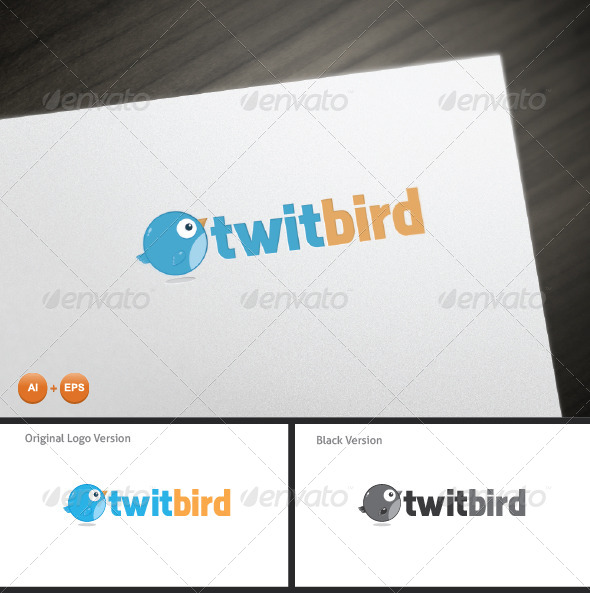 GraphicRiver Twit Bird Mascot Logo 7383761