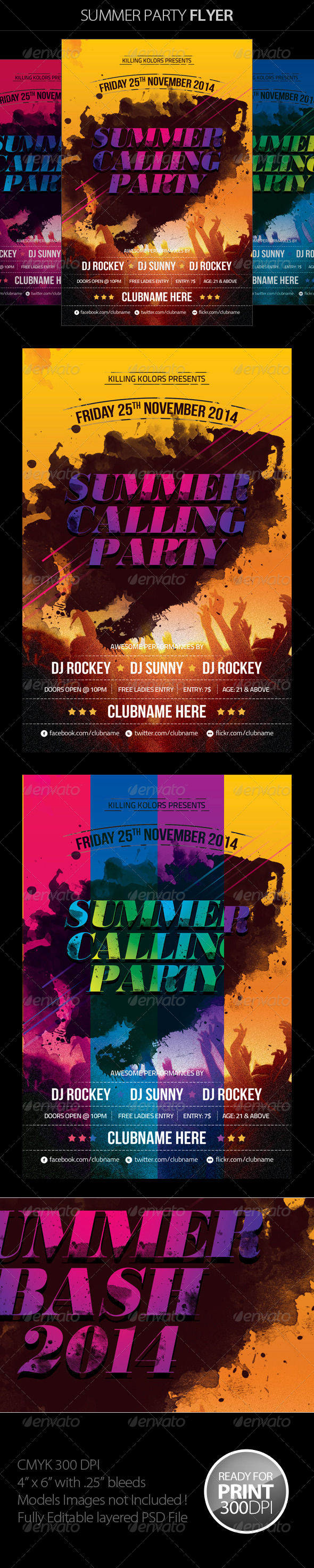 GraphicRiver Summer Party Flyer 7383800
