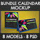 Bundle Calendar Desk Mockup - GraphicRiver Item for Sale