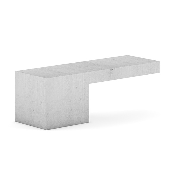 3DOcean Concrete Bench 7383879