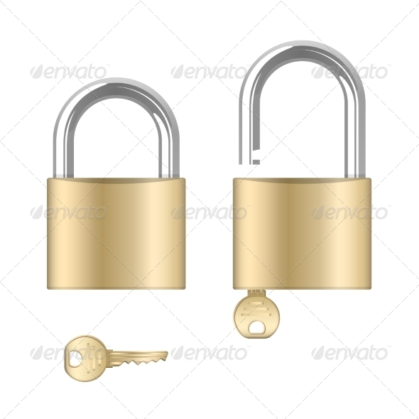 GraphicRiver Locked and Unlocked Padlocks with Keys 7383967