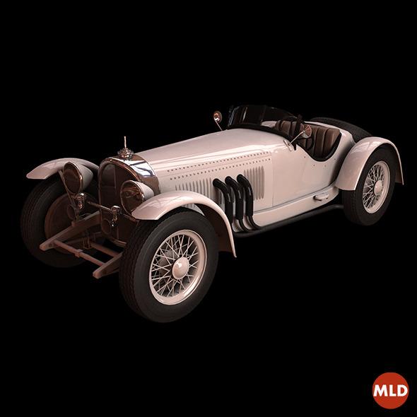 3DOcean Mercedes SSK 1928 7383978